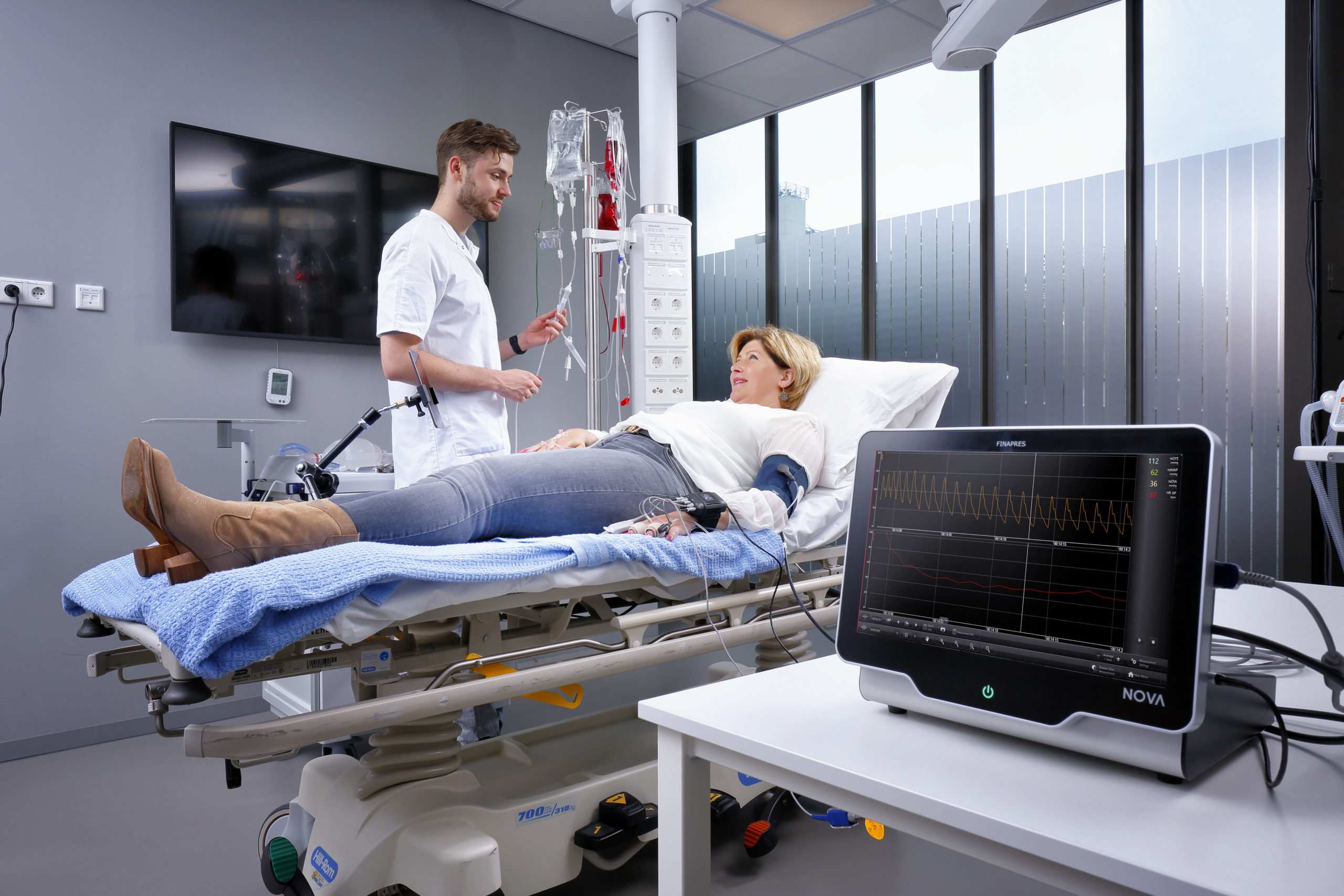 Drugs administration test with theFinapres®Guided Autonomic Testing application